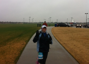 The one pic my dad was able to take on the course...it was COLD!